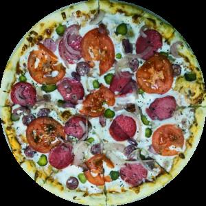 Егерская пицца с колбасками
