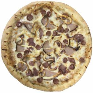 баварская пицца с колбасками